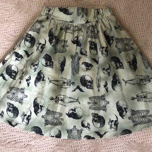 ModCloth skull skirt